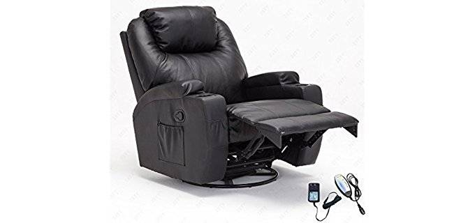 Recliner Genius Swivel Recline Rocker - Comfortable Heated Swivel Recliner Armchair