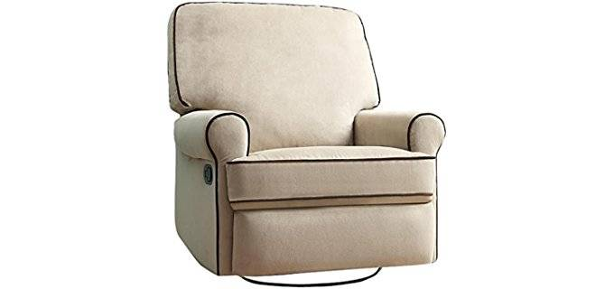Pulaski Soft Swivel Glider - Stylish Padded Designer Swivel Recliner