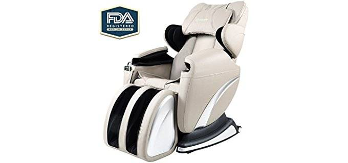 Real Relax Electric Full Body Massager - Heated Swivel Rocker Body Massage Recliner