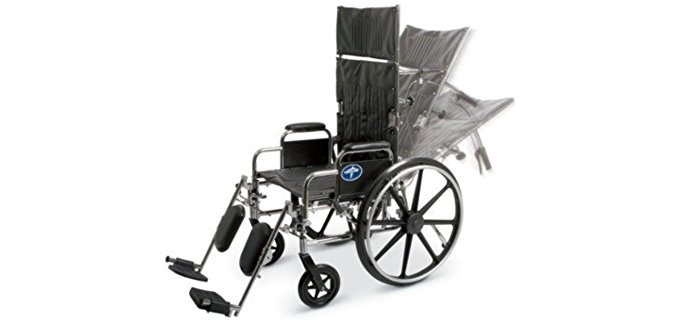 Medline Fully Adjustable Elderly Recliner - Infinitely Adjustable Senior Recliner Wheel Chair