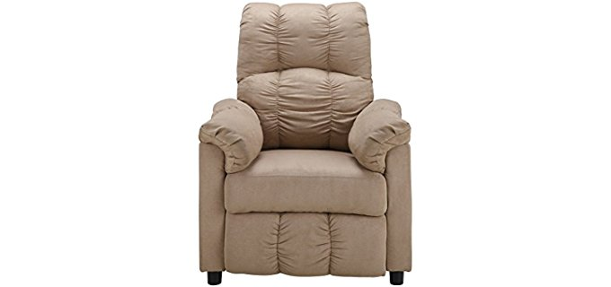 Dorel Living Affordable Cosy Small Arm Chair - Small Padded Reading Recliner