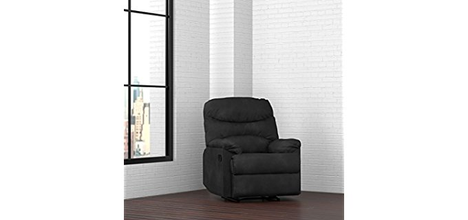 Handy Living Petite Recliner - Plush Space Saving Black Recliner For Petite People  sc 1 st  Recliner Time - Unbiased Editorial Reviews On The Best Recliners & Best Small Recliners for Short u0026 Petite People - Recliner Time islam-shia.org