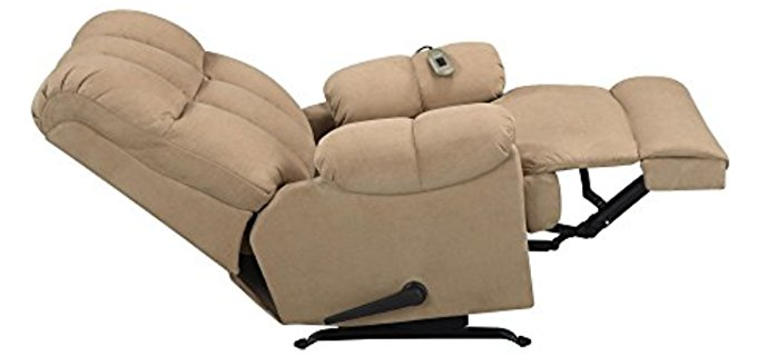 Dorel Living Massage Recliner Armchair - Dual Motorised Recliner Massage Armchair
