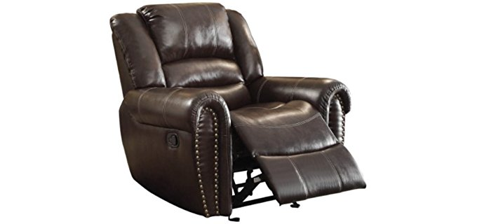 Homelegance Bonded Leather Chair - Dad's Bonded Leather Recliner Arm Chair