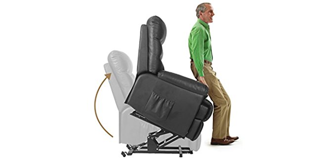 Merax Leather Lift Recliner - Sturdy Steel Sleeper Lift Recliner Chair