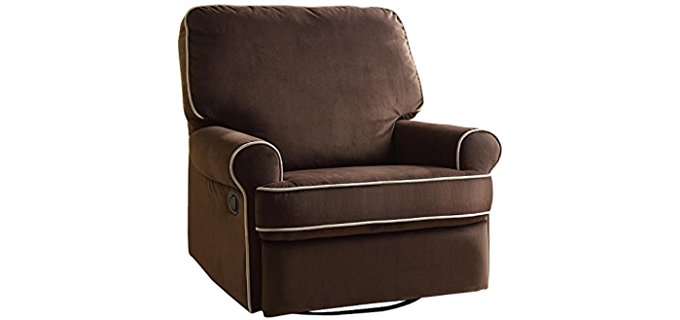 Pulaski Microplush Glider - Modern Living Glider Recliner Chair