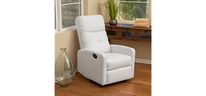 Great Deal Furniture Compact Recliner Chair - Modern Wall Hugger Recliner Chair