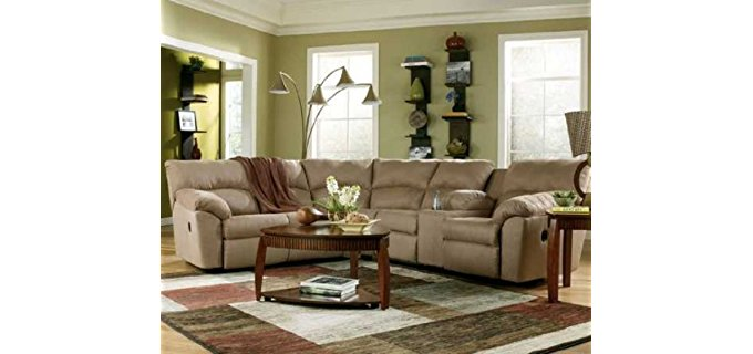 Ashley Sectional Recliner Sofa - Corner Unit Sectional Recliner Lounge Suite