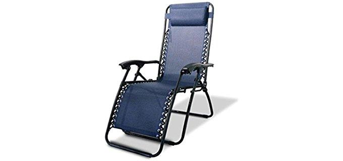 Caravan Sports Full Recline Camper Chair - Outdoor Zero Gravity Camping Recliner
