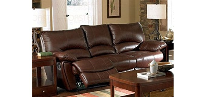 Coaster Home Furnishings Casual Sofa - Smooth Gliding Leather Recliner Sofa