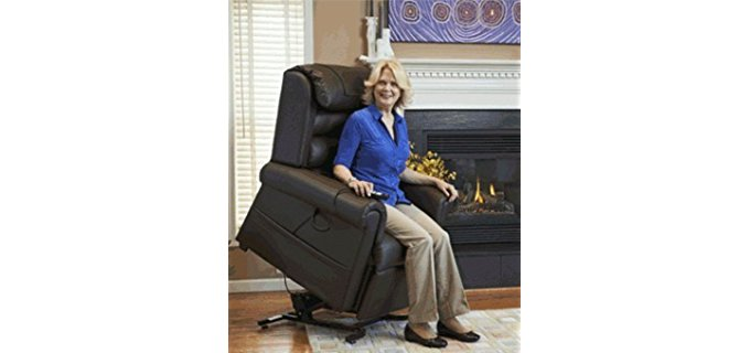 Golden Technologies Adjustable Lift Recliner - Programmable Brisa Leather Lift Recliner Chair
