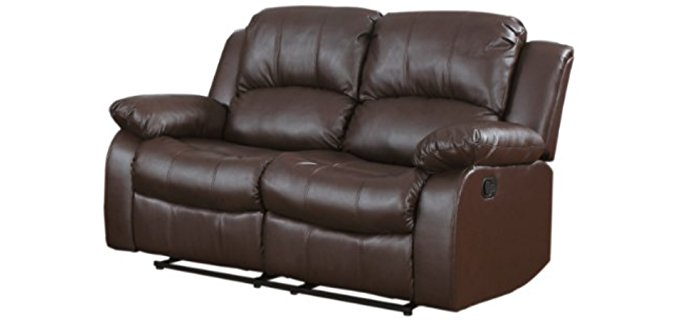 Homelegance Recliner Loveseat Sofa - Bonded Leather Reclining Loveseat