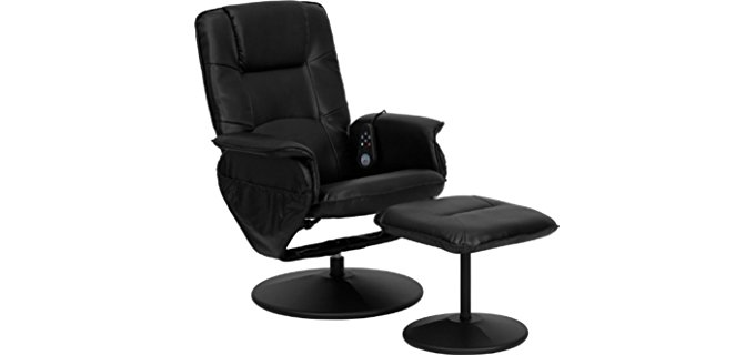 Obiwan Sales Recliner and Ottoman - Remote Control Recliner with Adjustable Ottoman