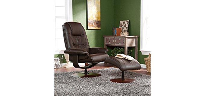 Southern Enterprises Bonded Leather Recliner - Classic Styled Low Sitting Bonded Leather Recliner