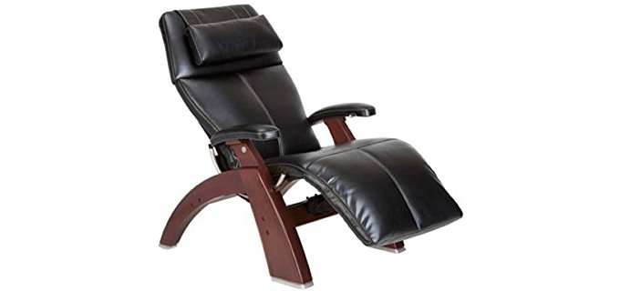 Human Touch Premium Leather Lumbar Support Chair - Zero Gravity Recliner Chair for Back Pain