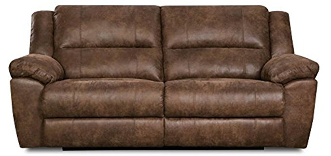 Simmons  Double Motion Recliner Sofa - Phoenix Mocha Dual Motion Reclining Loveseat