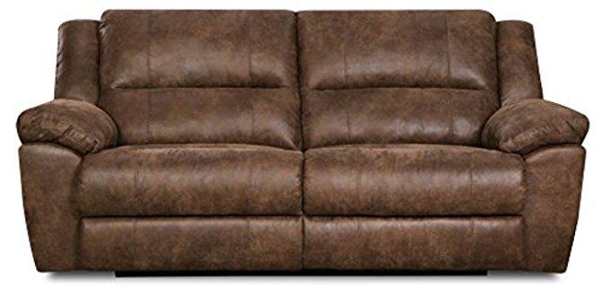 Simmons  Double Motion Recliner Sofa - Phoenix Mocha Dual Motion Reclining Loveseat