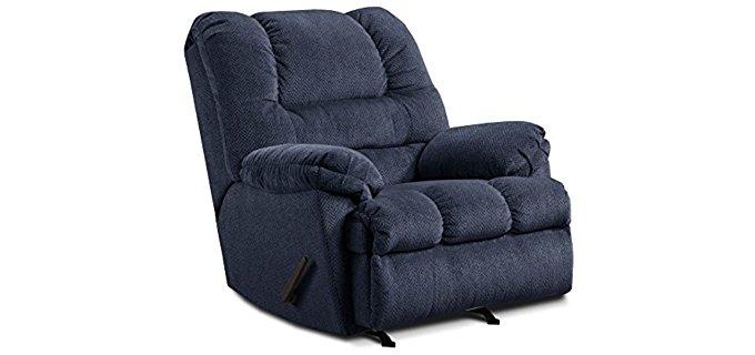 Simmons  Zig Zag Rocker Recliner - Thick Padded Rocker Recliner Chair