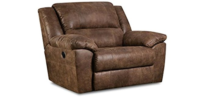 Simmons Coiled Cuddler Recliner - Innerspring Hybrid Cuddler Recliner Chair