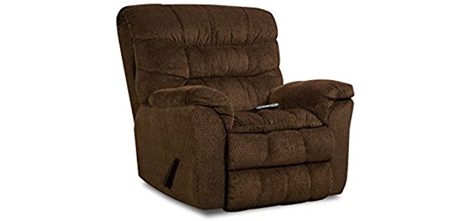 Simmons  Aegean Heated Massage Recliner - Large Rocker Recliner Armchair with Massage