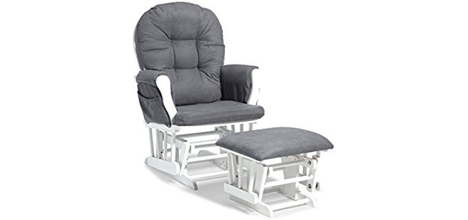 Stork Craft Glider Recliner With Ottoman - Custom Glider Recliner Chair With Ottoman