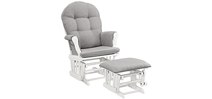Angel Line Nursery Glider Recliner - Classic Stable Base Glider for Nursery