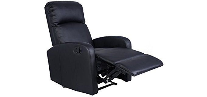 Giantex Manual Leather Recliner Chair - Inexpensive Black Leather Recliner Chair  sc 1 st  Recliner Time - Unbiased Editorial Reviews On The Best Recliners : best inexpensive recliners - islam-shia.org