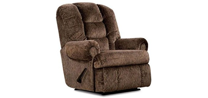 Lane King Comfort Large Massage Recliner - Space Saving Tall Man Recliner Chair