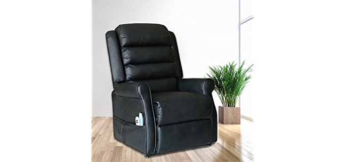 Magic Union Slender Tall Man Recliner - Sturdy Frame Leather Recliner for Tall People