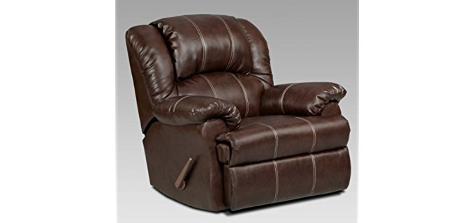 Roundhill Furniture Oversized Spring Recliner - Coil Spring Comfort Recliner for Tall People