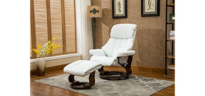 Divano Roma Furniture Swivel Recliner Chair   Mahogany Swivel Recliner With  Ottoman