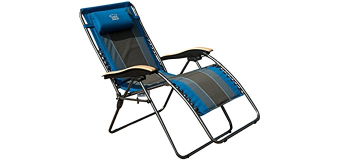Timber Ridge Deluxe Padded Outdoor Recliner - Ergonomic Heavy Duty Recliner Chair  sc 1 st  ReclinerTime.com : heavy duty recliner chairs - islam-shia.org