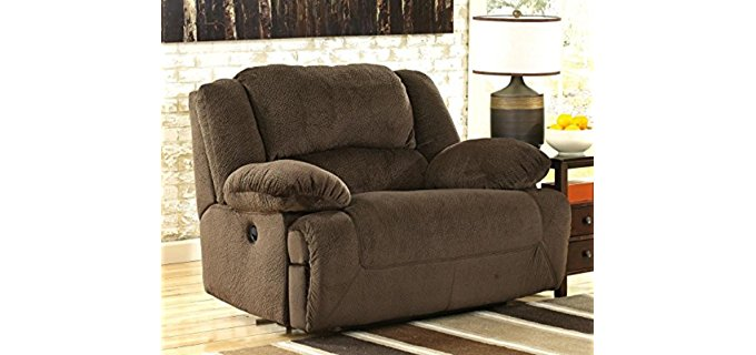 Ashley Furniture Design Power Cuddler   Double Wide Wall Hugger Cuddler  Recliner