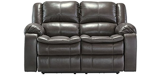 Ashley Furniture Design Long Knight Loveseat - Power Reclining Two-Person Sofa