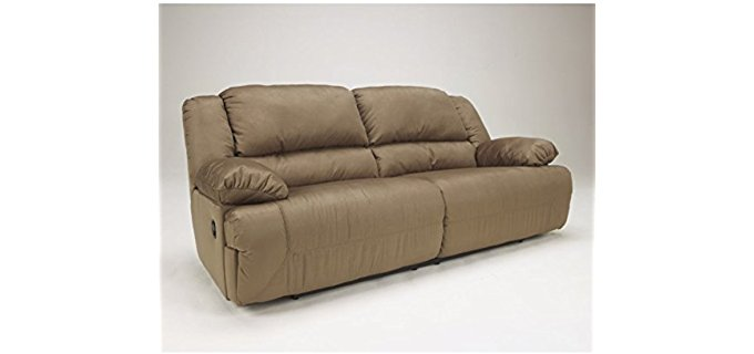 Ashley Furniture Design Double Wide Recliner Loveseat - Double Wide 2 Person Reclining Sofa
