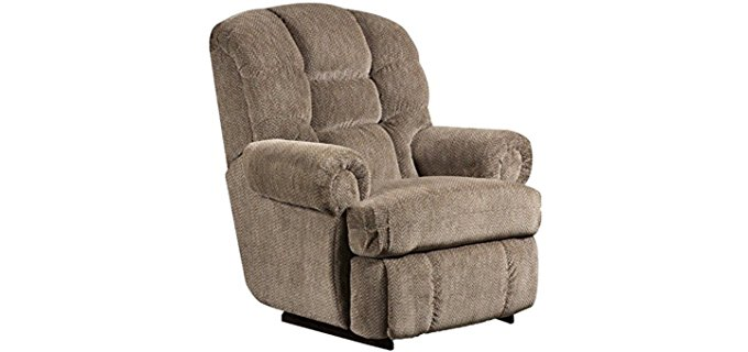 Flash Furniture Gazette Pewter Large Recliner - Big & Tall Plush Microfiber Recliner Armchair