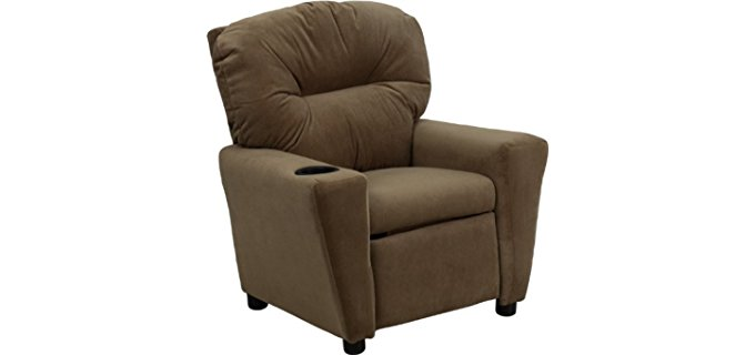 Flash Furniture Tiny Kid's Recliner Chair - Petite Children's Recliner Armchair