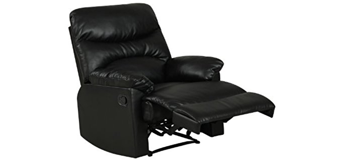 ProLounger Wall Hugger Bedroom Recliner - Small Armchair Recliner for Bedroom