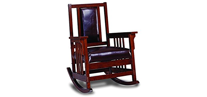 Coaster Home Furnishings Mission Rocker - Elegant Mission Style Rocking Chair