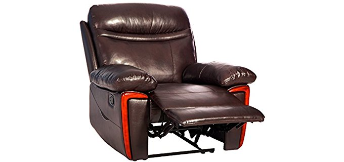 Merax Heated Recliner Armchair - Heated Recliner Sofa With Massage