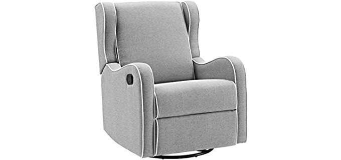 Angel Line Scrolled Wing Chair - Comfortable Scrolled Wing Fabric Chair Recliner