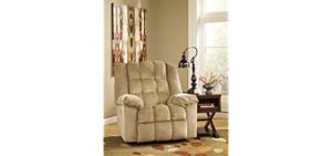 Ashley Furniture Design Fabric Rocker - Velvety Fabric Rocker Recliner Armchair
