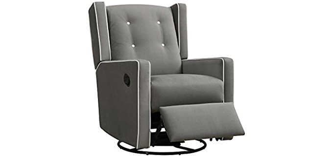 Baby Relax Mikayla Wingback Glider - Comfortable Nursery Wingback Glider Chair