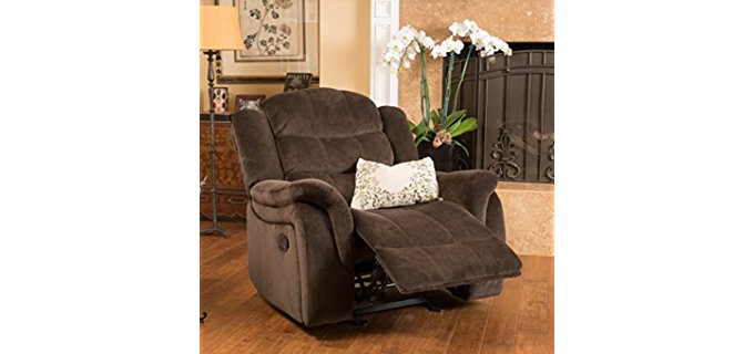 Great Deal Furniture Fabric Glider - Fully Padded Fabric Glider Recliner