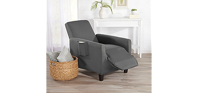 Home Fashion Designs Recliner Cover - Stylish Elasticized Leather Recliner Cover