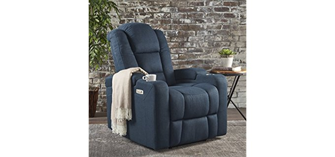 Everette Power Recliner Chair - Power Motion Recliner With Charger