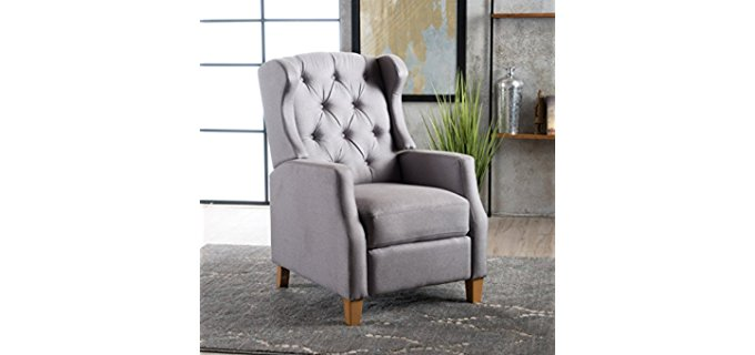 Great Deal Furniture Petite Wingback Chair - Compact Wingback Chair Recliner for Petite People