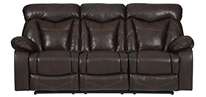 Coaster Home Furnishings Zimmerman Sofa - 3 Seater Leather Recliner Sofa