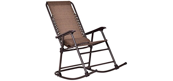 GoPlus Camper Rocking Chair   Foldable Outdoor Camping Rocking Chair