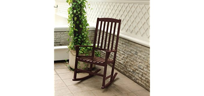 Mainstay Outdoor Rocking Chair - Vintage Style Outdoor Wooden Rocking Chair